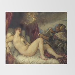 "Titian (Tiziano Vecelli) ""Danae receiving the Golden Rain"", 1553-1554 Throw Blanket"