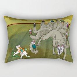 Amaterasu vs Ninetails Rectangular Pillow