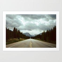 Alberta road Art Print