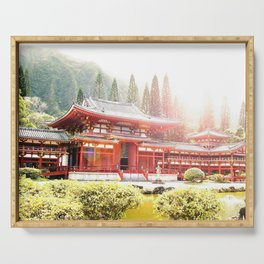 Japanese Temple Serving Tray