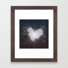 forest nature heart Framed Art Print
