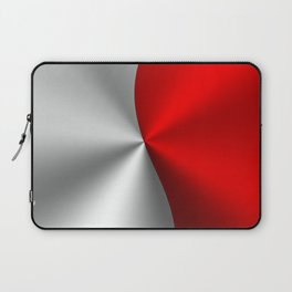 Metallic Red & Silver Geometric Design Laptop Sleeve