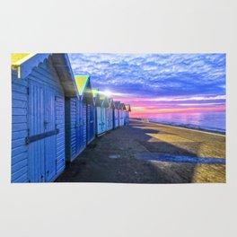 Sunset at Cromer Beach, U.K Rug