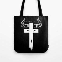 God is Evil - White Tote Bag