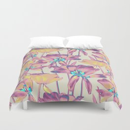 Tulips in Cotton Candy Duvet Cover