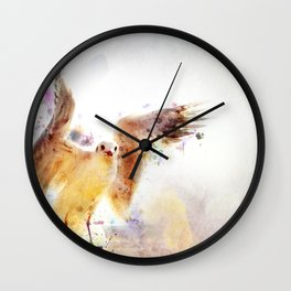 Seagull flying Wall Clock