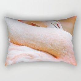 Mad Flamingo (Color) Rectangular Pillow