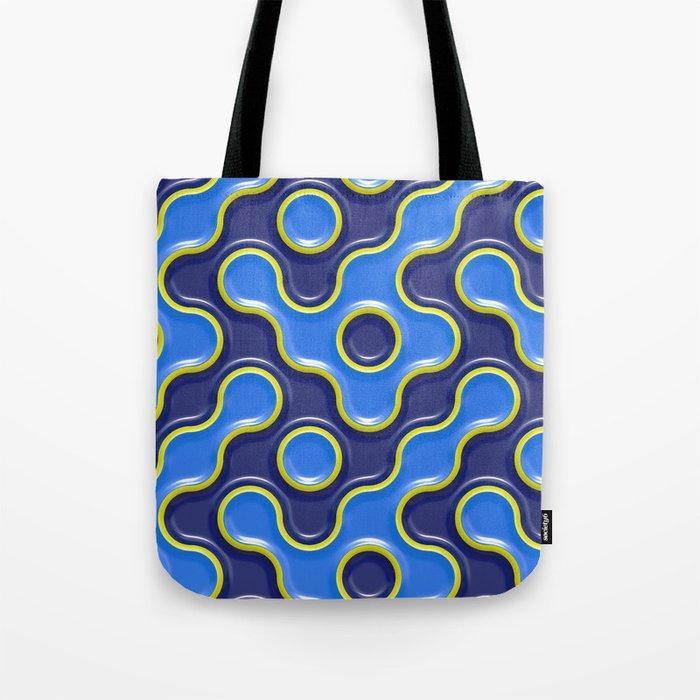 pattern blue 7 Tote Bag