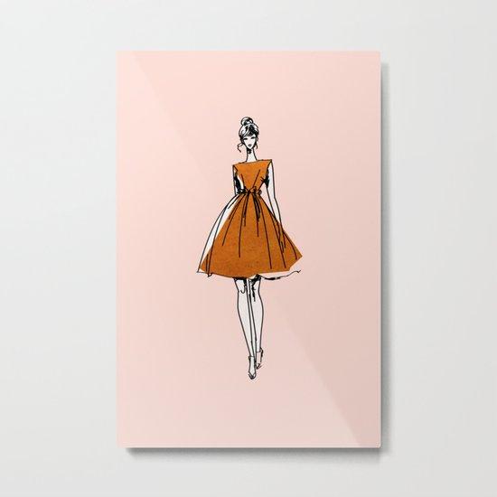 Little Copper Dress Metal Print