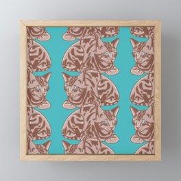 Striped Cat Pattern Framed Mini Art Print