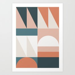 Cirque 05 Abstract Geometric Art Print