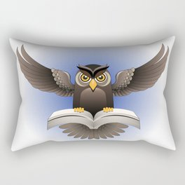 Brown Owl fly with the book Rectangular Pillow