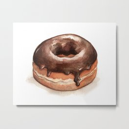 Chocolate Glazed Donut Metal Print