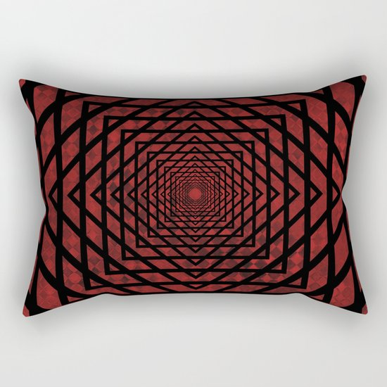 Eternally Red Rectangular Pillow