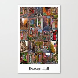 Beacon Hill Collage Canvas Print
