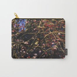 Robin in Cherry Tree Carry-All Pouch