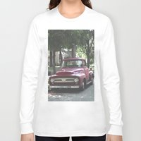 truck Long Sleeve T-shirts featuring Red Truck by Derrick Koch