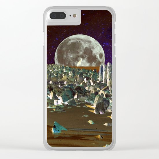 wolf moon nigth Clear iPhone Case