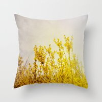 coldplay Throw Pillows featuring And it Was All Yellow by Olivia Joy StClaire
