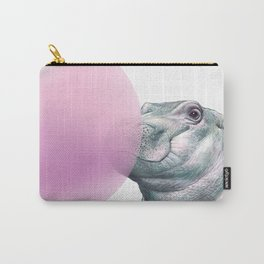 baby hippo blow a big bubble Carry-All Pouch