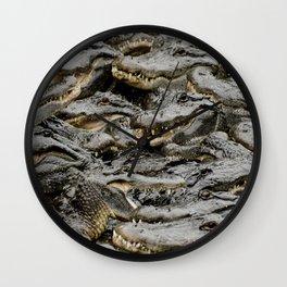 Alligator soup Wall Clock