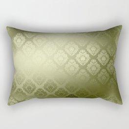 """""""Olive Damask Pattern"""" Rectangular Pillow"""