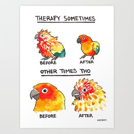Bird no. 490: Other Times Tho Art Print