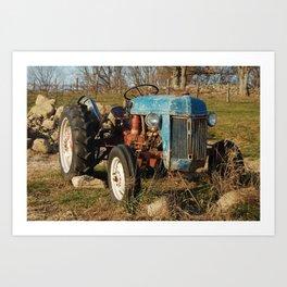 Stone Barns, Truck, NY Art Print