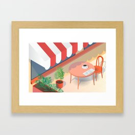 Down Time: Coffee Framed Art Print