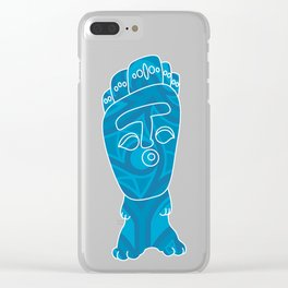Tiki Dude Clear iPhone Case