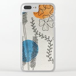 Wild Flower Clear iPhone Case