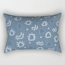 marfa, indigo shibori Rectangular Pillow