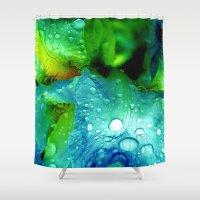 splash Shower Curtains featuring Splash by Stephanie Koehl