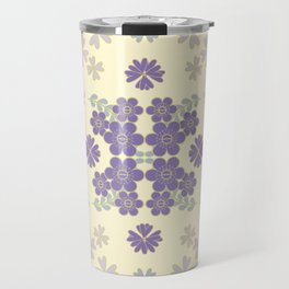 The pattern with the image of flowers gently pastel shades and botanical elements. Minimalistic desi Travel Mug