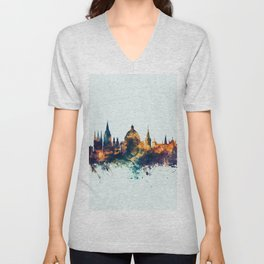 Oxford England Skyline Unisex V-Neck