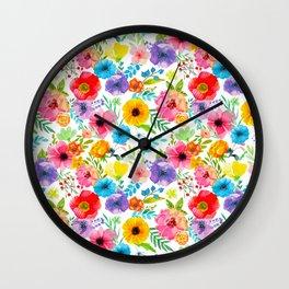 Flowers_104 Wall Clock