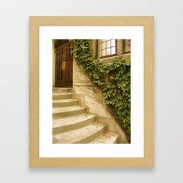 Steps to an Old Church  Framed Art Print