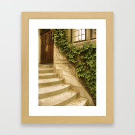 Steps to an Old Church  Framed Art Print