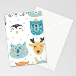 Baby Animals - Fantasy and Woodland Creatures Pattern Stationery Cards