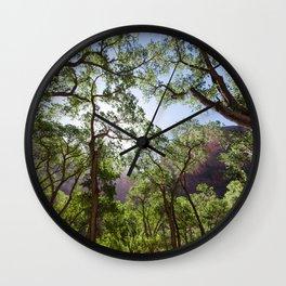Fremont Cottonwood Trees (Zion National Park, Utah) Wall Clock