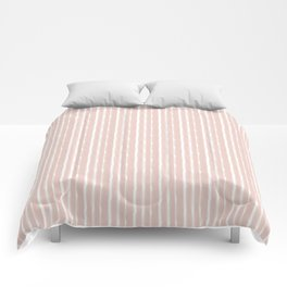 Blush Stripes Comforters