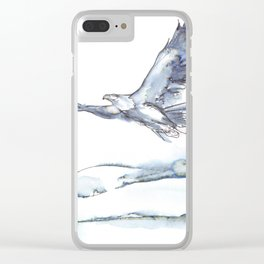 Flying Eagle, Hudson Valley (center) Clear iPhone Case
