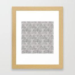SUN TILE CEMENT LIGHT Framed Art Print