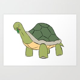 Happy Tortuous Art Print