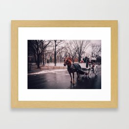 NYC Horse and Carriage Framed Art Print