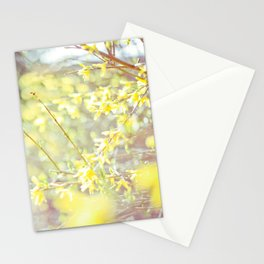 Yellow Forsythia Stationery Cards