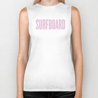 surfboard Biker Tanks featuring Surfboard by Marianna