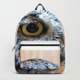 Western Screech Owl profile Backpack