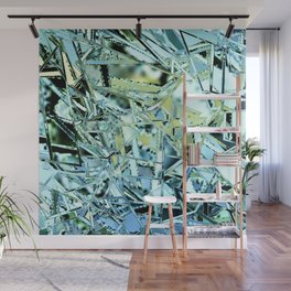 broken glass abstract geometric digital painting Wall Mural