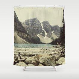 Moraine Lake Adventure Shower Curtain